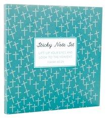 Sticky Note Sets: Blue Cross Pattern
