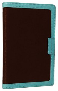 NIV Compact Thinline Bible Zippered Chocolate/Turquoise Duo-Tone (Red Letter Edition)