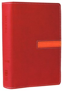 NIV Compact Thinline Bible Hot Pink/Clementine Duo-Tone (Red Letter Edition)