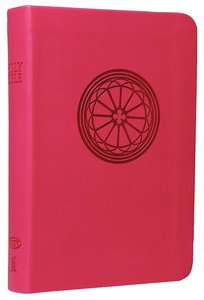 NKJV Compact Large Print Reference Bible Raspberry (Essentials)