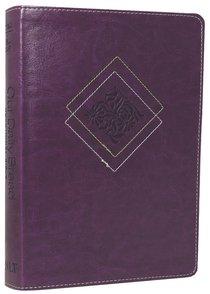 NLT Our Daily Bread Devotional Bible Purple (Black Letter Edition)