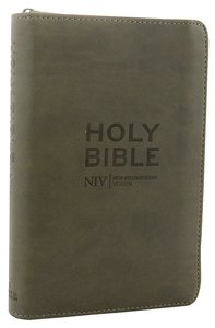 NIV Pocket Bible Charcoal Soft-Tone With Zip