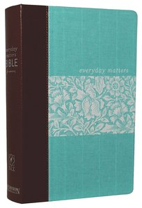 NLT Everyday Matters Bible For Women Deluxe Cloth With Leather Spine