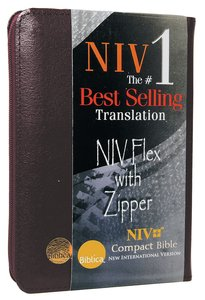 NIV Compact Flex Burgundy Bible With Zipper