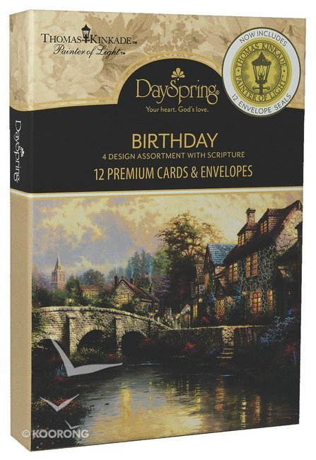 Buy Boxed Cards Birthday Thomas Kinkade Box With Envelope Seals