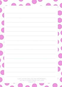Notepad: Dark Pink Circle Pattern (70 Sheets)
