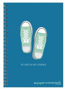 Boys Adventure A5 Spiral Notepads: My Feet Do Not Stumble