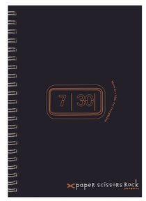 Unisex Retro A4 Spiral Notepad: There is a Time For Everything