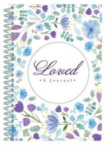 Journal: Loved Spiral (Purple/blue Flowers)