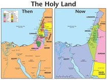 Wall Chart: Then and Now: Holy Land (Laminated) (Then And Now Series)