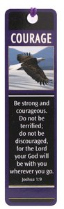 Bookmark With Tassel and Charm: Courage