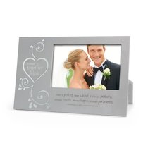 Silver Metal Photo Frame: Joined Together in Love