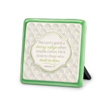 Pattern of Praise Ceramic Plaque: The Lord is Good (Green)