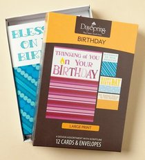 Boxed Cards Birthday: Large Print