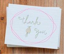Boxed Notes: Faith Floral Thank You, Small Bird, Philippians 1:3