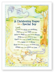 Christening Plaque For a Special Boy