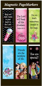 Magnetic Bookmarks Set of 6: Little Miss Grace #01