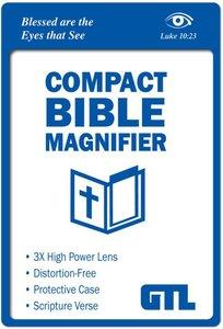 Compact Bible Magnifier: Luke 10:23 Scripture Imprint, Vinyl Sleeve