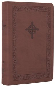 NIV Teen Study Bible Compact Sienna Celtic Cross (Black Letter Edition)