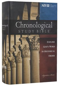 NIV Chronological Study Bible (Black Letter Edition)