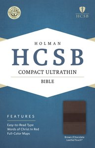 HCSB Compact Ultrathin Bible Brown/Chocolate Leathertouch