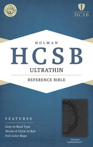 HCSB Ultrathin Reference Bible Charcoal