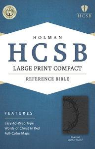 HCSB Large Print Compact Bible Charcoal