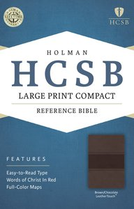 HCSB Large Print Compact Bible Brown/Chocolate