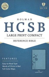 HCSB Large Print Compact Bible Teal