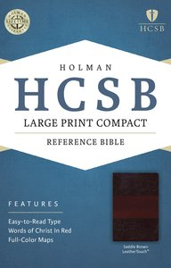 HCSB Large Print Compact Bible Saddle Brown
