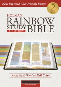 KJV Holman Rainbow Study Bible Brown