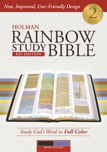 KJV Holman Rainbow Study Bible Lavender/Chocolate