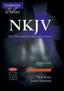 NKJV Pitt Minion Reference Brown Goatskin (Red Letter Edition)