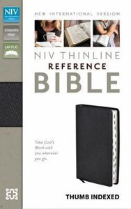NIV Thinline Reference Bible Indexed Black Bonded Leather