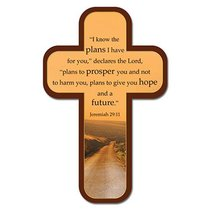 Bookmark Cross-Shaped: I Know the Plans I Have For You...Jeremiah 29:11 (Long Road Ahead)