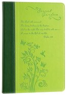 Journal: Secret Garden, Yellow/Green Leatherlux
