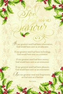 Christmas Premium Boxed Cards: God Sent Us a Saviour (Luke 2:11 Kjv)