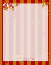 Christmas Laser Stationery: Snow Birds (Isaiah 30:15 Niv)
