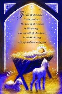 Christmas Boxed Cards: The Joy of Christmas is His Coming... 1 John 4:9 NIV
