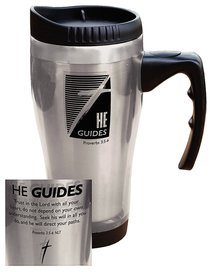 Stainless Steel Travel Mug: He Guides (Silver)