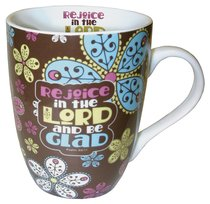 Ceramic Mug With Scripture: Rejoice in the Lord and Be Glad