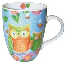 Ceramic Mug With Scripture: Owls