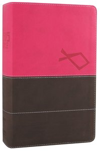 NIV Jesus Bible Italian Duo-Tone Pink/Brown (Red Letter Edition)