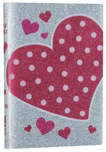 NIV Glitter Bible Pink Heart (Red Letter Edition)