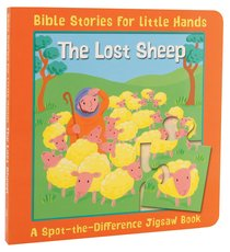 The Spot-The-Difference: Lost Sheep (Jigsaw Book) (Bible Stories For Little Hands Series)