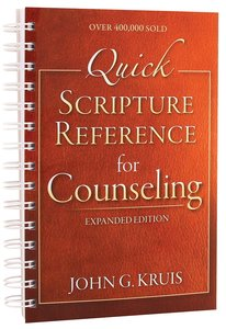 Quick Scripture Reference For Counseling (Fourth Edition)