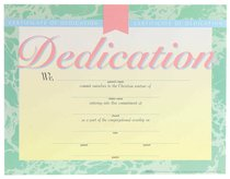 Certificate Baby Dedication: (6 Pack)