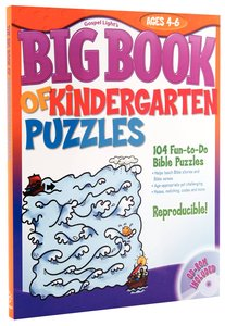 The Big Book of Kindergarten Puzzles (Reproducible)
