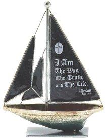 Sailboat Metal: I Am the Way.. John 14:6 (Black)