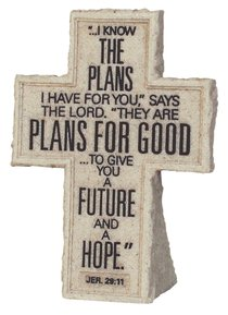 Cross Tabletop: Cornerstone: I Know the Plans (Jeremiah 29:11)